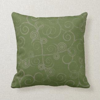 Swirled Green American MOJO Pillow