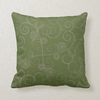 Swirled Green  American MOJO Pillow Cushions