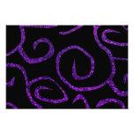 Swirled Pattern, Swirly Style, Glitter - Purple Photo