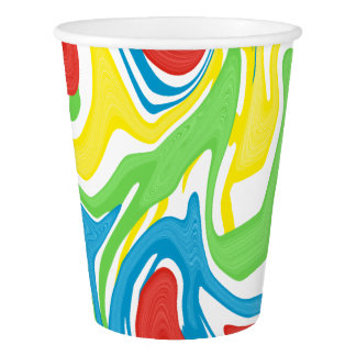 Swirled Rainbow Paper Cup