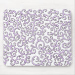 Swirley Purple Doodle Mouse Pad