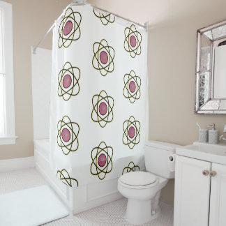 Swirling Atom Shower Curtain