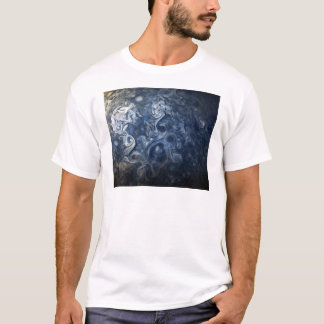 Swirling Blue Clouds of Planet Jupiter Juno Cam T-Shirt