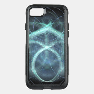 Swirling Blue Electrical Charge OtterBox Commuter iPhone 8/7 Case