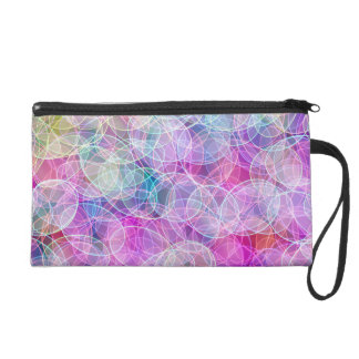Swirling Candy Colour light show - pink Wristlet