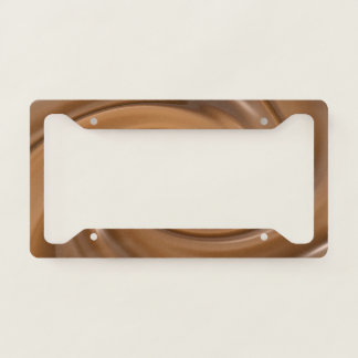 Swirling Chocolate- Number Plate Frame