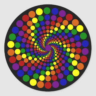 Swirling Color Wheel Classic Round Sticker