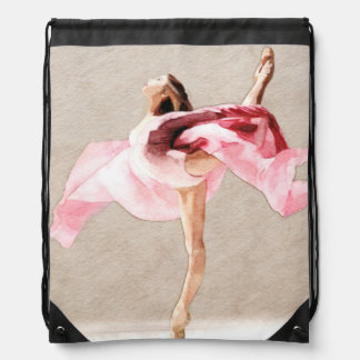 Swirling Drawstring Bag