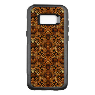 Swirling Fluid Abstract Pattern of Bright Gold OtterBox Commuter Samsung Galaxy S8+ Case