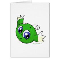 Swirling green kiko cards