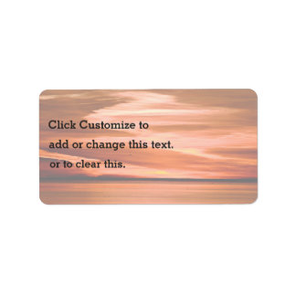 Swirling Orange Sunset On The Water Address Label