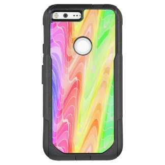 Swirling Pastel Rainbow Abstract OtterBox Commuter Google Pixel XL Case