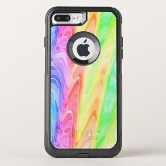 Swirling Pastel Rainbow Abstract OtterBox Commuter iPhone 8 Plus/7 Plus Case