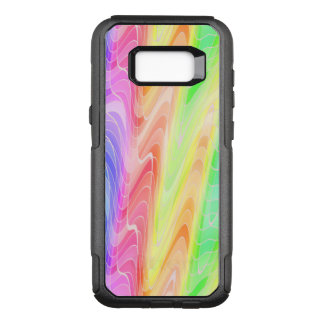Swirling Pastel Rainbow Abstract OtterBox Commuter Samsung Galaxy S8+ Case
