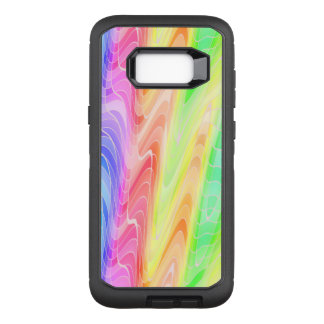 Swirling Pastel Rainbow Abstract OtterBox Defender Samsung Galaxy S8+ Case