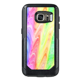 Swirling Pastel Rainbow Abstract OtterBox Samsung Galaxy S7 Case