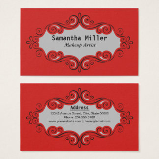 Swirling Pattern Border Business Card