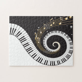 Swirling Piano Keys Jigsaw Puzzle