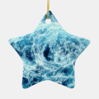 Swirling Sea Dated Star Ornament