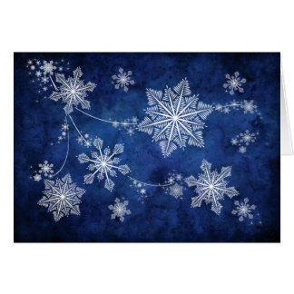 Swirling Snowflakes Christmas Card