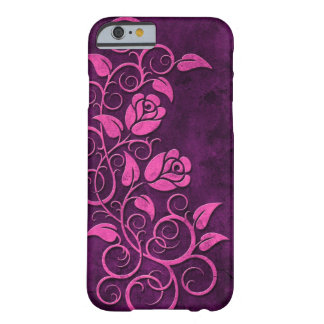 Swirling Stone Roses, purple Barely There iPhone 6 Case