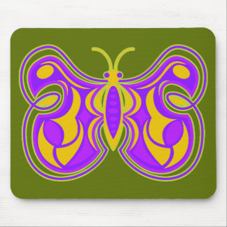 Swirling Vintage Butterfly Mouse Pad
