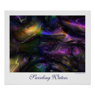 Swirling Waters Poster