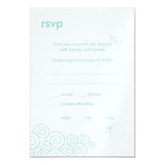 Swirling Waves RSVP Card - Robin's Egg Blue
