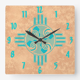 Swirling Winds Square Wall Clock