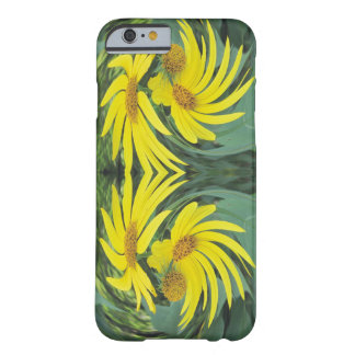 Swirling Yellow Wildflowers Barely There iPhone 6 Case