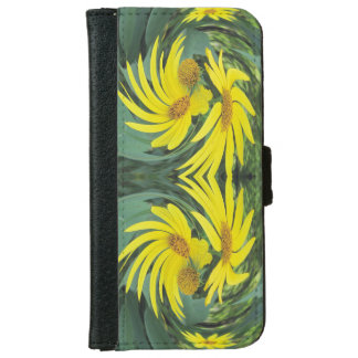 Swirling Yellow Wildflowers iPhone 6 Wallet Case