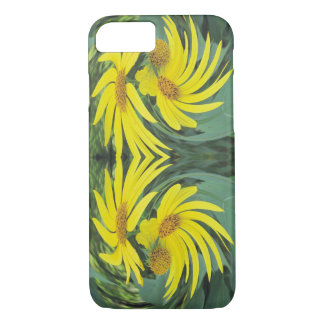 Swirling Yellow Wildflowers iPhone 7 Case