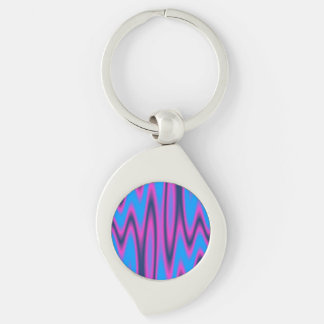 Swirls #8 Silver-Colored swirl key ring