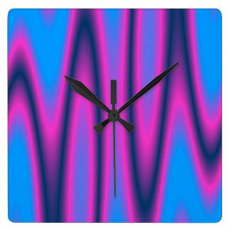 Swirls #8 square wall clock
