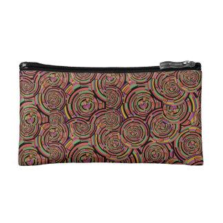 Swirls and Circles Makeup Bag