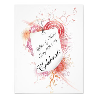 Swirls and Lace With Love Invites
