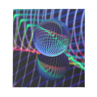 Swirls and lines in the glass ball notepad