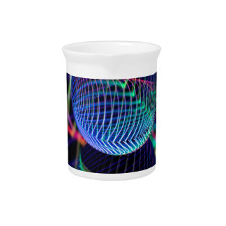 Swirls and lines in the glass ball pitcher