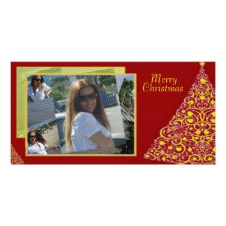 Swirls Christmas Tree Photo Card