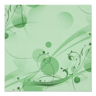 Swirls Circles Dots - Green Announcement