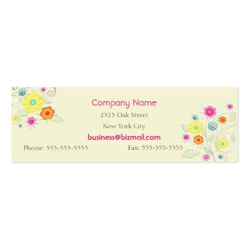 Swirls & Flowers Business / Profile Card Business Card Template