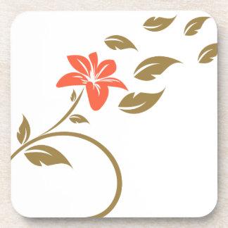 swirls flowers drink coaster