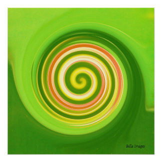 Swirls in earth tones - poster / print
