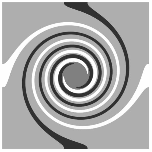 Swirls in Gray and White. Spiral Design. Photo Cut Out