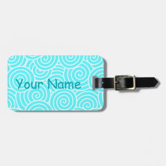 Swirls Luggage Tag