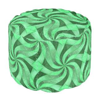 Swirls of Green Pouf