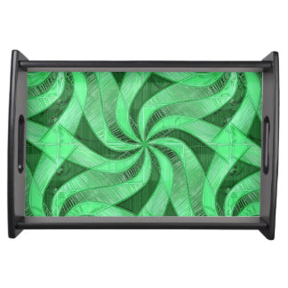 Swirls of Green Serving Tray