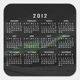 Swirls of Light; 2012 Calendar Square Sticker