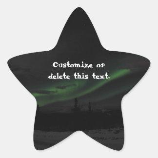 Swirls of Light; Customizable Star Sticker