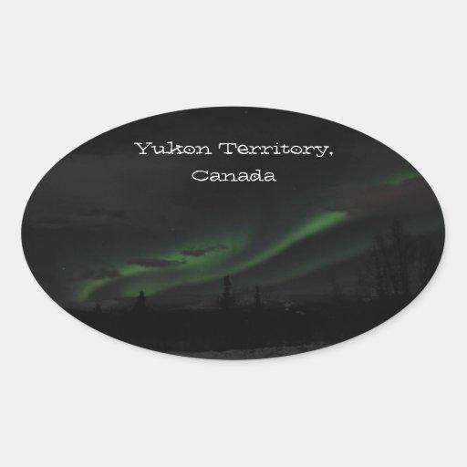 Swirls of Light; Yukon Territory Souvenir Stickers